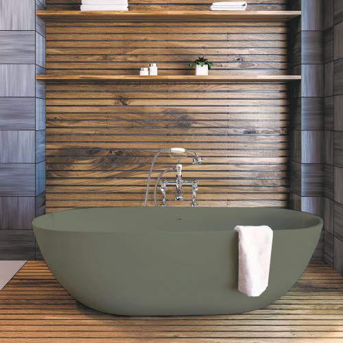 BC Designs Crea ColourKast Bath 1665mm (Khaki Green).