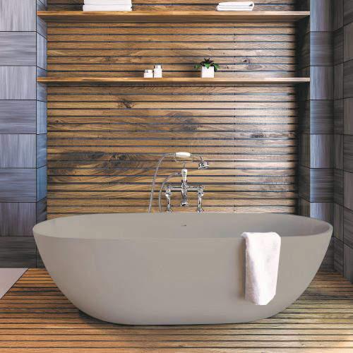 BC Designs Crea ColourKast Bath 1665mm (Powder Grey).