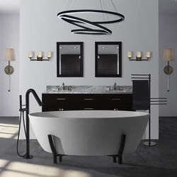 BC Designs Essex Bath With Stand 1510mm (Polished White).