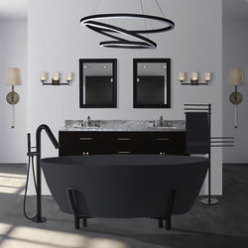 BC Designs Essex ColourKast Bath With Stand 1510mm (Gunmetal).