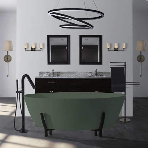 BC Designs Essex ColourKast Bath With Stand 1510mm (Khaki Green).