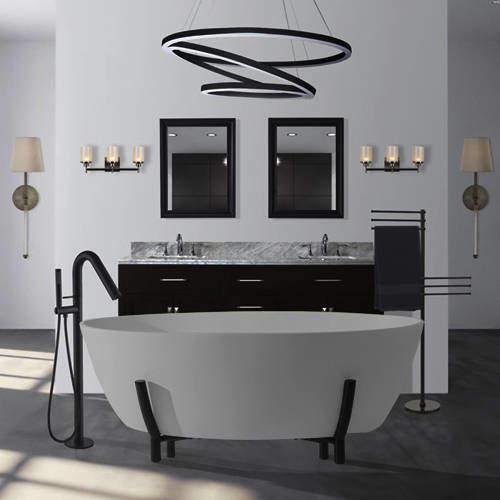 BC Designs Essex ColourKast Bath With Stand 1510mm (Powder Grey).