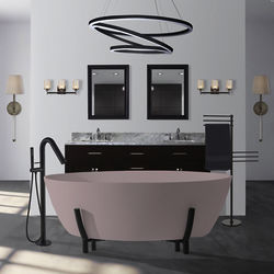 BC Designs Essex ColourKast Bath With Stand 1510mm (Satin Rose).