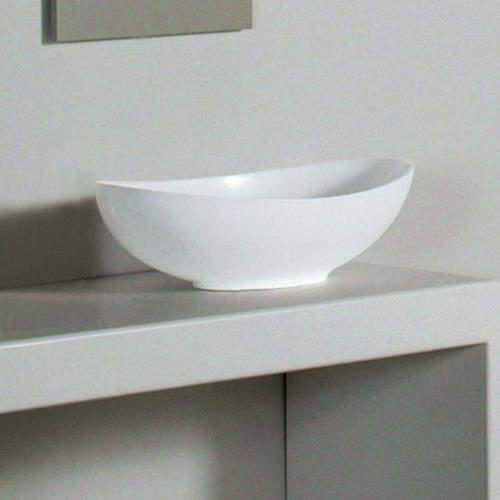 BC Designs Kurv Basin 615mm (Polished White).