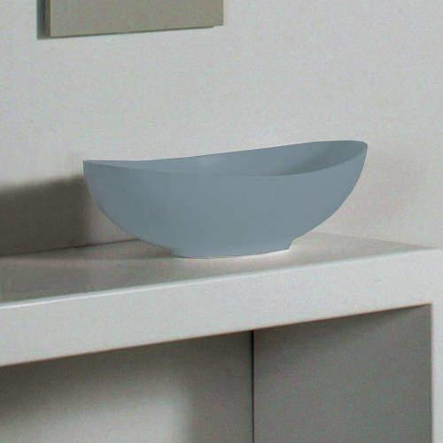 BC Designs Kurv ColourKast Basin 615mm (Powder Blue).