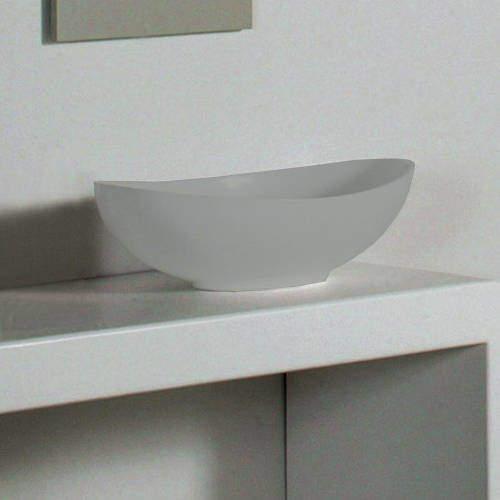 BC Designs Kurv ColourKast Basin 615mm (Industrial Grey).