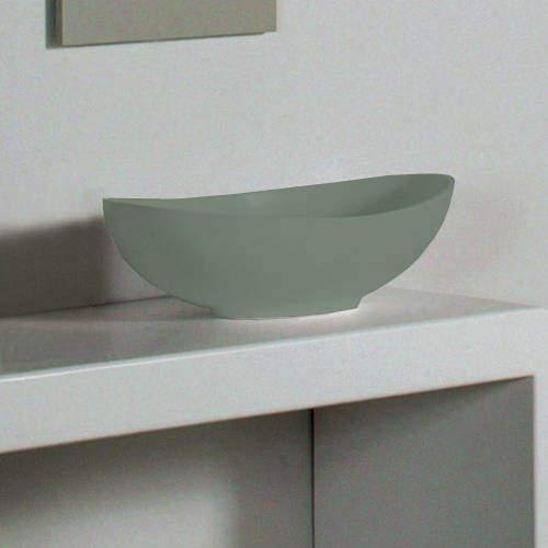 BC Designs Kurv ColourKast Basin 615mm (Khaki Green).