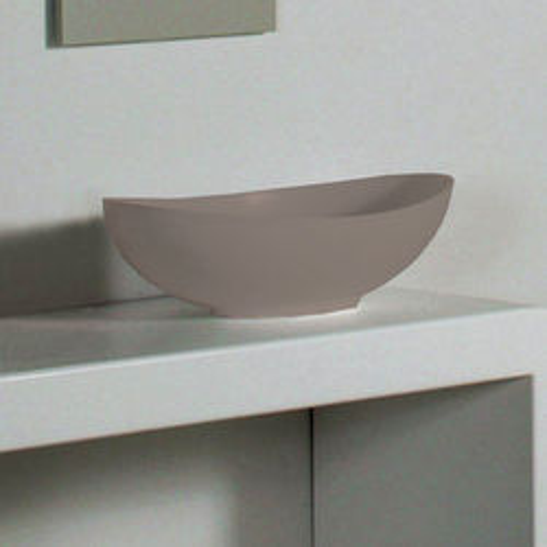 BC Designs Kurv ColourKast Basin 615mm (Mushroom).
