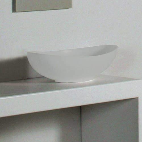 BC Designs Kurv ColourKast Basin 615mm (Powder Grey).