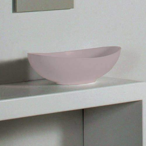 BC Designs Kurv ColourKast Basin 615mm (Satin Rose).