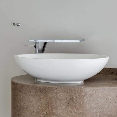 BC Designs Tasse/Gio Basin 575mm (Polished White).