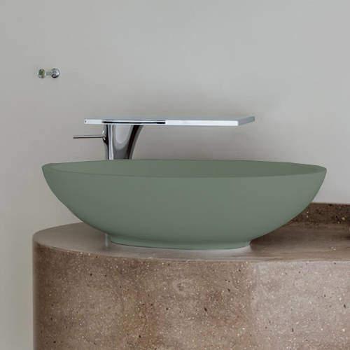 BC Designs Tasse/Gio ColourKast Basin 575mm (Khaki Green).