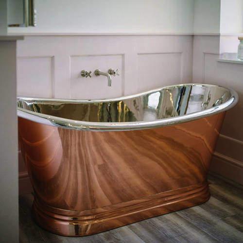 BC Designs Copper & Nickel Boat Bath 1500mm (Nickel Inner/Copper Outer).