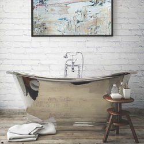 BC Designs Nickel Boat Bath 1500mm (Nickel Inner/Nickel Outer).