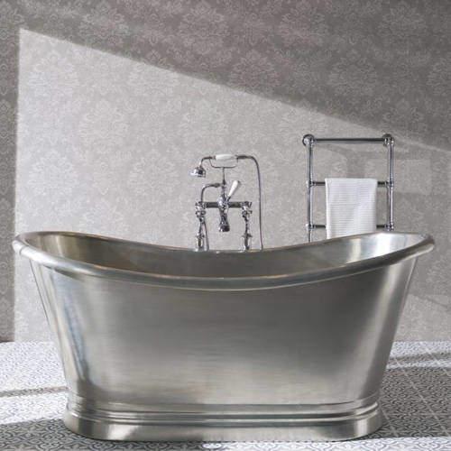 BC Designs Tin Boat Bath 1500mm (Tin Inner/Tin Outer).
