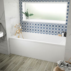 BC Designs Durham Single Ended Bath With Panel 1500x750mm (White).
