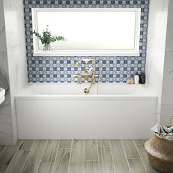 BC Designs Durham Double Ended Bath With Panel 1800x800mm (White).