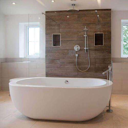 BC Designs Ovali Bath 1690mm (White).
