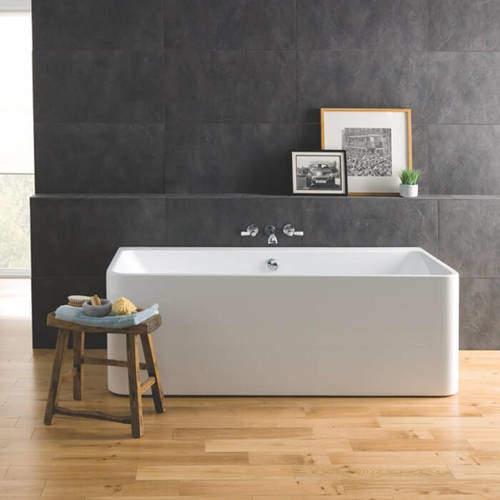 BC Designs Murali Back To Wall Bath 1720mm (Gloss White).