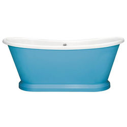 BC Designs Painted Acrylic Boat Bath 1580mm (White & Route One).