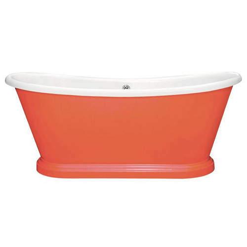BC Designs Painted Acrylic Boat Bath 1700mm (White & Orange Aurora).