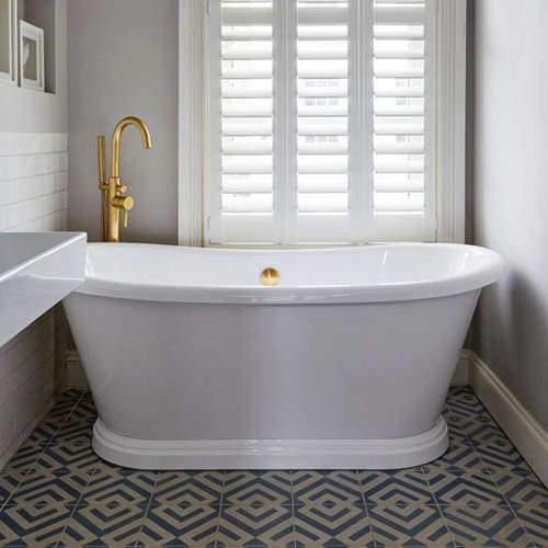 BC Designs Acrylic Boat Bath 1700mm (Gloss White).