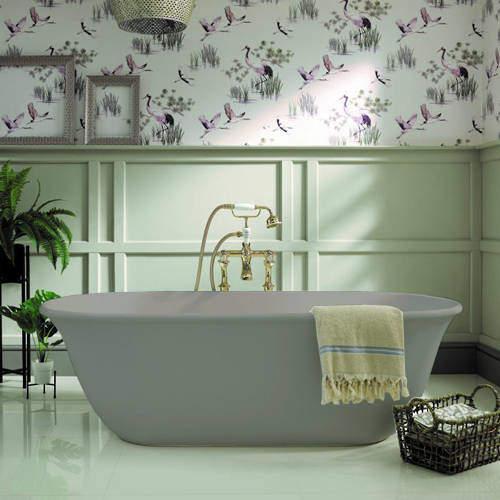 BC Designs Omnia ColourKast Bath 1615mm (Industrial Grey).
