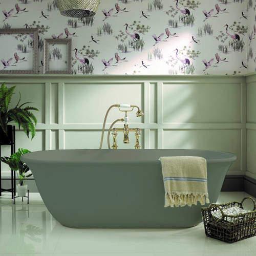 BC Designs Omnia ColourKast Bath 1615mm (Khaki Green).