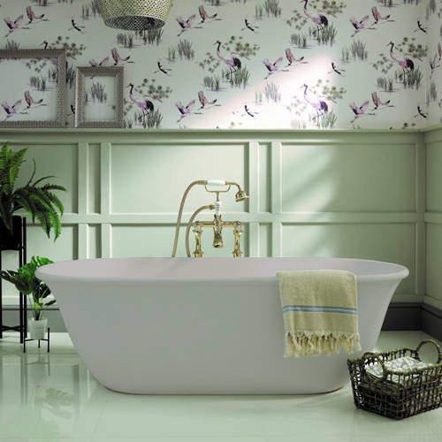 BC Designs Omnia ColourKast Bath 1615mm (Powder Grey).