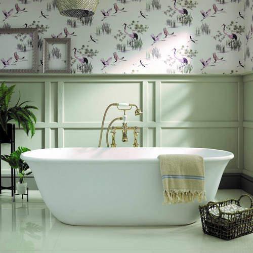 BC Designs Omnia Bath 1615mm (Matt White).