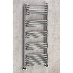 COLOUR Heated Towel Rail & Wall Brackets 1100x600 (Grey Aluminium).