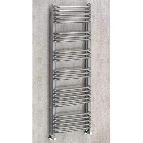COLOUR Heated Towel Rail & Wall Brackets 1300x500 (Grey Aluminium).