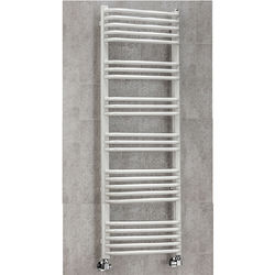 COLOUR Heated Towel Rail & Wall Brackets 1300x500 (White).