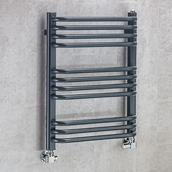 COLOUR Heated Towel Rail & Wall Brackets 620x500 (Anthracite Grey).