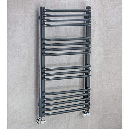 COLOUR Heated Towel Rail & Wall Brackets 900x500 (Anthracite Grey).