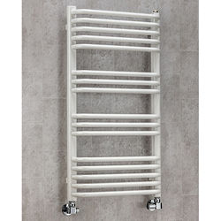 COLOUR Heated Towel Rail & Wall Brackets 900x500 (White).
