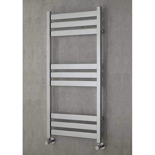 COLOUR Heated Towel Rail & Wall Brackets 1080x500 (Chrome).