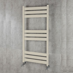 COLOUR Heated Towel Rail & Wall Brackets 1080x500 (Oyster White).