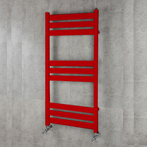 COLOUR Heated Towel Rail & Wall Brackets 1080x500 (Flame Red).