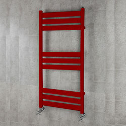 COLOUR Heated Towel Rail & Wall Brackets 1080x500 (Ruby Red).