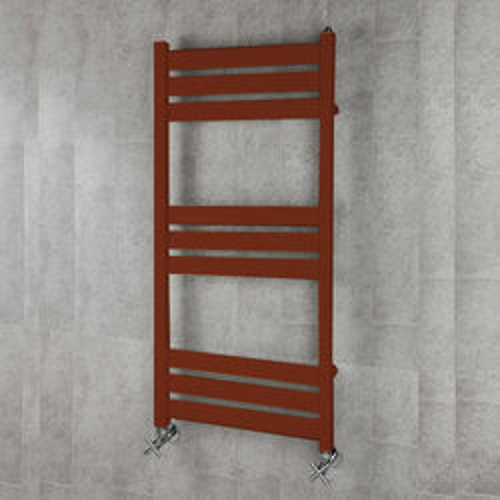 COLOUR Heated Towel Rail & Wall Brackets 1080x500 (Purple Red).