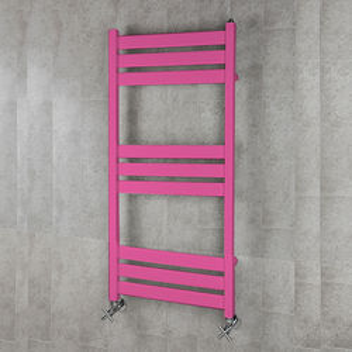 COLOUR Heated Towel Rail & Wall Brackets 1080x500 (Heather Violet).