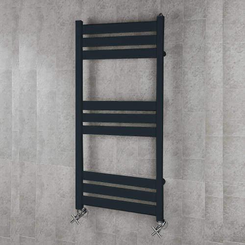 COLOUR Heated Towel Rail & Wall Brackets 1080x500 (Anthracite Grey).