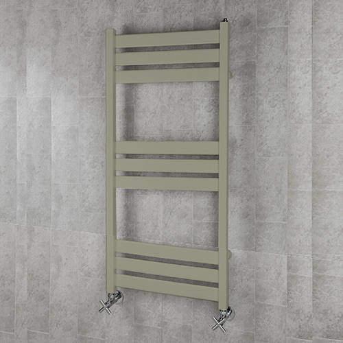 COLOUR Heated Towel Rail & Wall Brackets 1080x500 (Pebble Grey).
