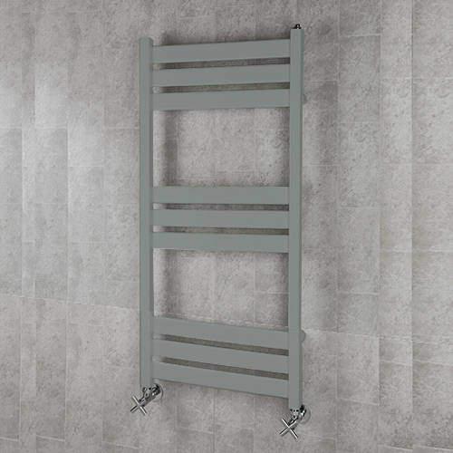 COLOUR Heated Towel Rail & Wall Brackets 1080x500 (Traffic Grey A).