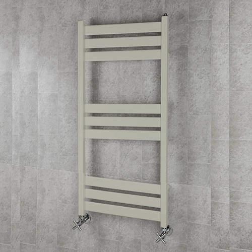 COLOUR Heated Towel Rail & Wall Brackets 1080x500 (Silk Grey).