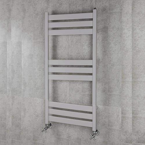 COLOUR Heated Towel Rail & Wall Brackets 1080x500 (White Alumin).