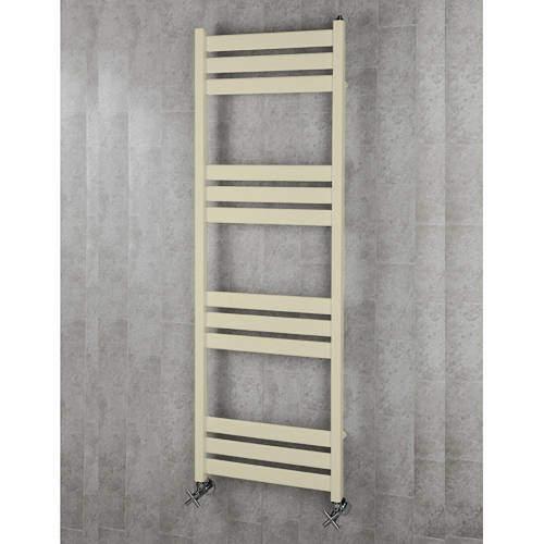 COLOUR Heated Towel Rail & Wall Brackets 1500x500 (Light Ivory).