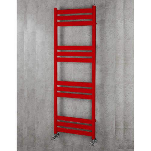 COLOUR Heated Towel Rail & Wall Brackets 1500x500 (Flame Red).