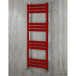 COLOUR Heated Towel Rail & Wall Brackets 1500x500 (Ruby Red).